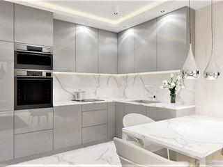 Wkwadrat Architekt Wnętrz Toruń Kitchen units Marble Grey
