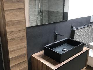 Bagno minimal L&M design di Marelli Cinzia Bagno minimalista MDF Effetto legno