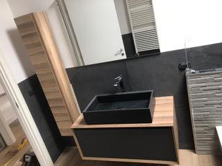 Bagno minimal L&M design di Marelli Cinzia Bagno minimalista Legno composito Effetto legno