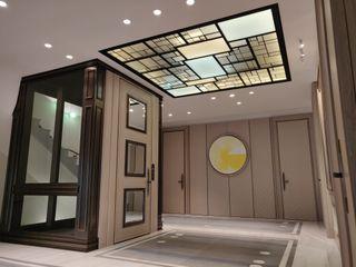 Plafond ON/ME light ON-ME Couloir, entrée, escaliers minimalistes Verre Blanc