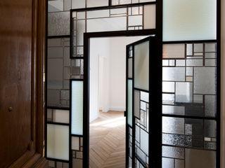 Cloison créative lumineuse ADN / ON-ME Light ON-ME Couloir, entrée, escaliers minimalistes Verre Blanc