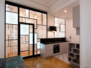 Cloison créative lumineuse ADN / ON-ME Light ON-ME Cuisine minimaliste Fer / Acier Blanc