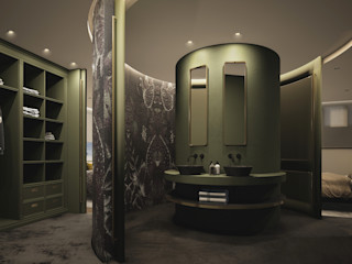 DyD Interiorismo - Chelo Alcañíz Ванна кімната Дерево-пластичний композит Зелений