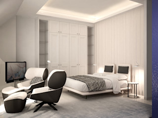 DyD Interiorismo - Chelo Alcañíz Спальня Фанера Білий