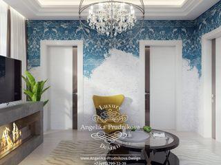 Дизайн-студия элитных интерьеров Анжелики Прудниковой Eclectic style living room