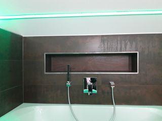 DSHP Gebäudeautomation und Energie GmbH Modern bathroom Tiles Brown