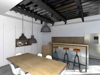 LOFT Lionel CERTIER - Architecture d'intérieur Cuisine intégrée