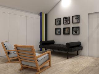 Open Space no Sótão Angelourenzzo - Interior Design Corredores, halls e escadas minimalistas
