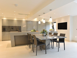 Mr and Mrs Farber Diane Berry Kitchens Built-in kitchens Granite Grey