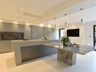 Mr and Mrs Farber Diane Berry Kitchens Built-in kitchens Concrete Grey