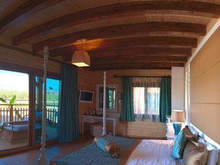 Çağlar Wood House Гостиная в стиле модерн Дерево Эффект древесины