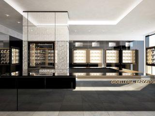 DUOLAB Progettazione e sviluppo オフィススペース&店 銅/ブロンズ/真鍮 アンバー/ゴールド