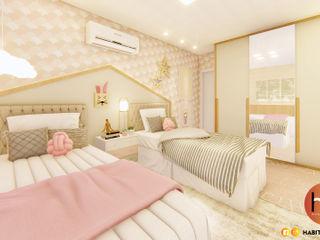 Habitus Arquitetura Dormitorios de niñas Tablero DM Rosa