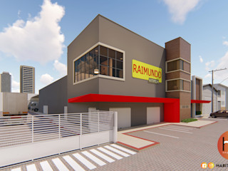 Habitus Arquitetura Edificios de Oficinas Concreto Gris