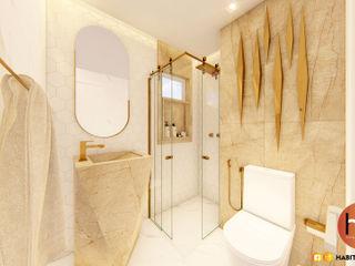 Habitus Arquitetura Baños de estilo moderno Cerámico Blanco
