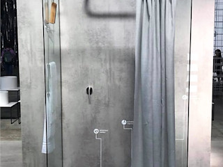 AISI Design srl 現代浴室設計點子、靈感&圖片 Grey