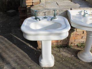 LAVABI DA BAGNO ANTICHI RECUPERANDO BRICK AND STONE BagnoLavabi Ceramica Bianco