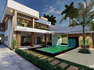 Projeto Contemporâneo Gelker Ribeiro Arquitetura | Arquiteto Rio de Janeiro Casas pequenas Bambu Turquesa