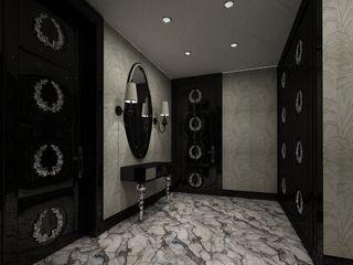 Inan AYDOGAN /IA Interior Design Office モダンスタイルの 玄関&廊下&階段 木 黒色