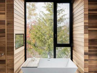 Green Living Ltd Nowoczesna łazienka Lite drewno