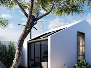 DOF Arquitectos Patios Concrete White