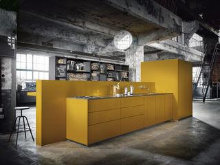 Außergewöhnliche Design-Küche von next125 Spitzhüttl Home Company Einbauküche Gelb