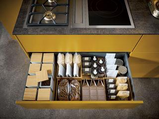 Außergewöhnliche Design-Küche von next125 Spitzhüttl Home Company KücheBesteck, Geschirr und Gläser Gelb