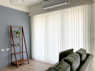 日光.綠意.自宅深呼吸|柔紗直立簾.木百葉簾 MSBT 幔室布緹 客廳配件與裝飾品 布織品 White