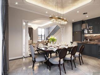 Mẫu thiết kế nội thất nhà mẫu West Lakes Golf & Villas Long An tô đậm vẻ phong trần của golfer Thiết kế nội thất ICONINTERIOR Phòng khách