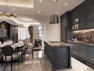Mẫu thiết kế nội thất nhà mẫu West Lakes Golf & Villas Long An tô đậm vẻ phong trần của golfer Thiết kế nội thất ICONINTERIOR Phòng ăn phong cách hiện đại