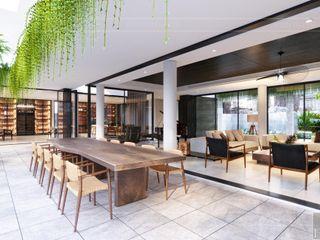 Không thể rời mắt thiết kế nội thất biệt thự Phúc An City Thiết kế nội thất ICONINTERIOR Phòng ăn phong cách hiện đại
