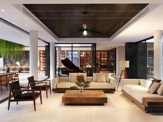 Không thể rời mắt thiết kế nội thất biệt thự Phúc An City Thiết kế nội thất ICONINTERIOR Phòng khách