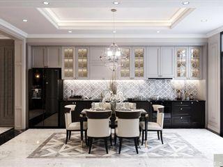 Sức hút mãnh liệt trong từng chi tiết nội thất biệt thự Lavilla Thiết kế nội thất ICONINTERIOR Phòng ăn phong cách hiện đại