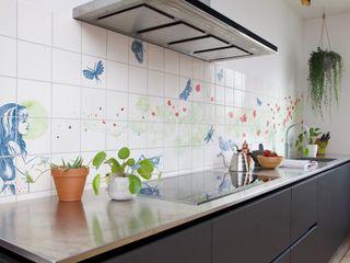 José den Hartog Eclectic style kitchen Tiles Green