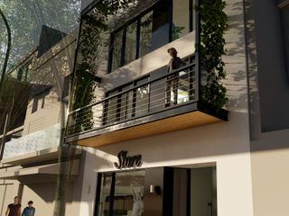 D4-Arquitectos Casas multifamiliares Hierro/Acero Blanco