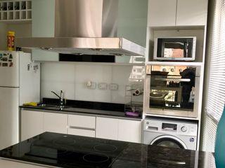 D4-Arquitectos Cocinas pequeñas Vidrio Blanco