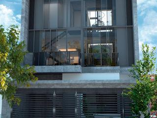 D4-Arquitectos Casas multifamiliares Vidrio Gris