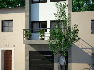 D4-Arquitectos Casas pequeñas Concreto Blanco