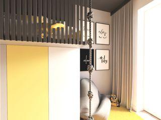 Wkwadrat Architekt Wnętrz Toruń Teen bedroom MDF Black