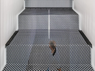 08023 Architects Stairs Iron/Steel Black