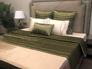 Adhvik Decor BedroomTextiles Textile Green