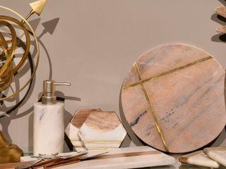 Adhvik Decor Dining roomCrockery & glassware Marble Beige