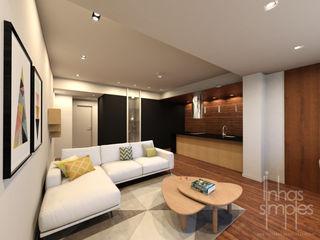 Linhas Simples Ruang Keluarga Modern