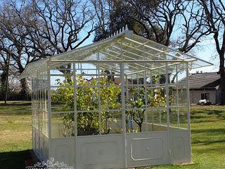Orvieto Arte Jardines de invierno de estilo industrial Hierro/Acero Blanco