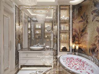 Дизайн-проект интерьера ванной комнаты в ЖК Горизонт Дизайн-студия элитных интерьеров Анжелики Прудниковой Ванная в классическом стиле