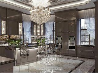 Дизайн-проект интерьера кухни в загородном доме в КП Сады Майендорф Дизайн-студия элитных интерьеров Анжелики Прудниковой Кухня в классическом стиле