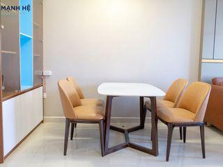 HOÀN THIỆN NỘI THẤT CĂN HỘ CHUNG CƯ THE PEGASUITE 50M2 - 1 PHÒNG NGỦ (CHỊ NHI, QUẬN 8) Công ty Cổ Phần Nội Thất Mạnh Hệ Phòng khách