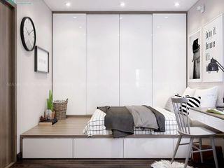 MẪU THIẾT KẾ NỘI THẤT CHUNG CƯ LAVITA GARDEN 60M2 - 2 PN (ANH HOÀNG, Q. THỦ ĐỨC) Công ty Cổ Phần Nội Thất Mạnh Hệ BedroomBedside tables