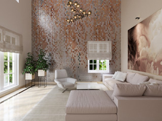 De Panache Modern Living Room Plywood Beige