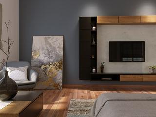 De Panache Small bedroom Plywood Grey
